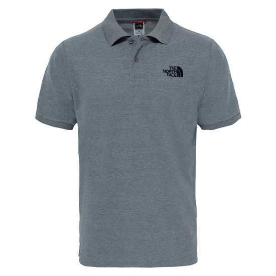 The North Face Polo Piquet - TNF Medium Grey Heather/TNF Black