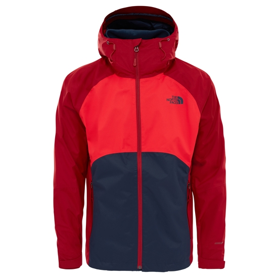 The North Face Sequence Jacket - Urban NAvy/High Risk Red/Cardinal Red