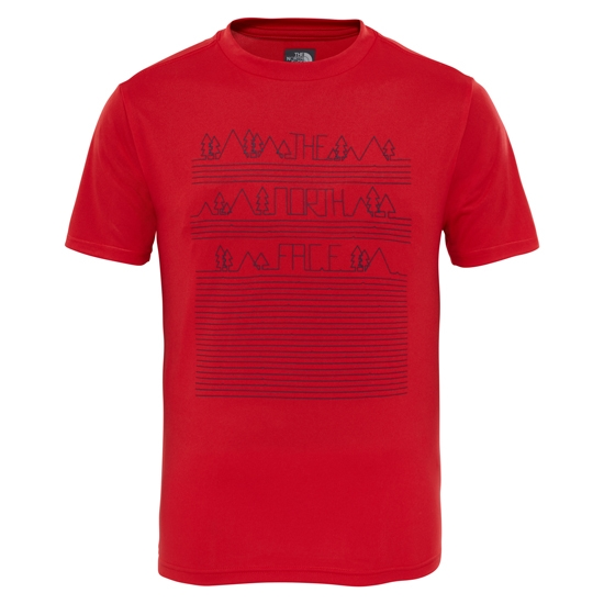 The North Face Reaxion Tee Jr - High Risk Red