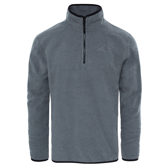 The North Face M 100 Glacier 1/4 Zip - Medium Grey Heather