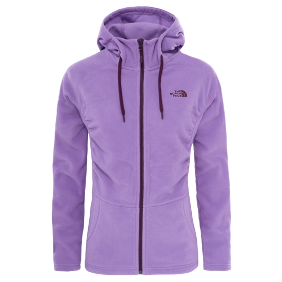 The North Face Mezzaluna Full Zip Hoodie W - Bellflower Purple