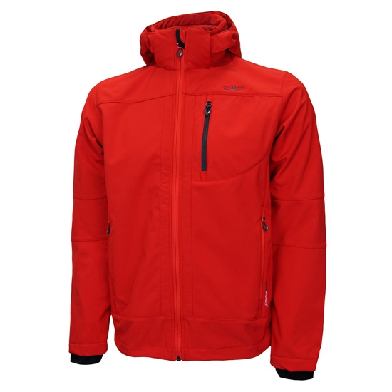 Campagnolo Softshell Zip Hood Jacket - Red