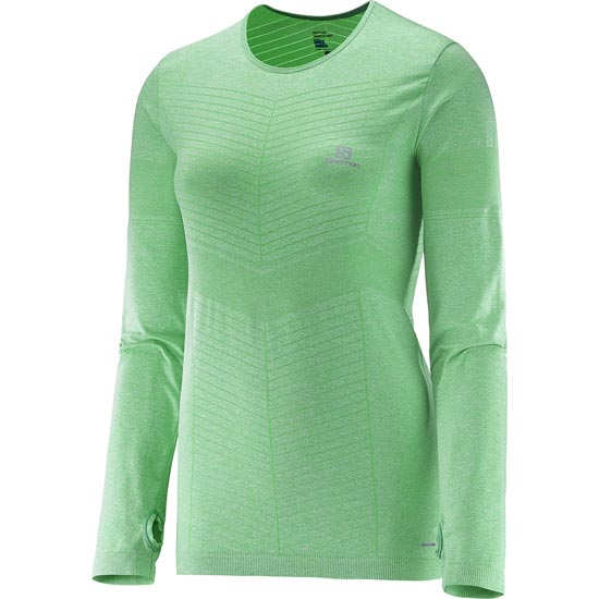 Salomon Elevate Seamless LS Tee W - Jasmine Green