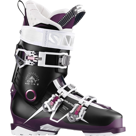 Salomon Quest Pro 110 W Thermoformable - Black/Burgundy/Pink