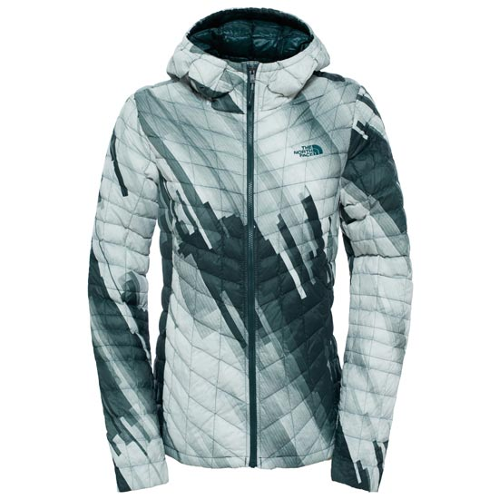 The North Face Thermoball Hoodie W - Darkest Spruce Strata Print