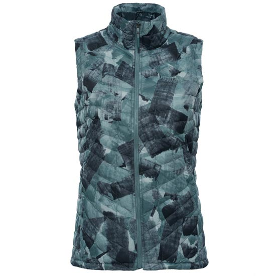 The North Face Thermoball Vest W - Balsam Green Swashed Print