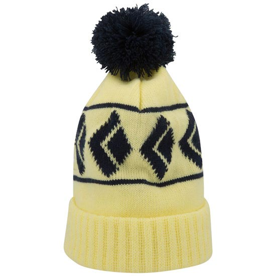 Black Diamond Tom Pom Beanie - Lemon