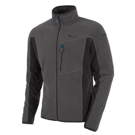 Salewa Drava PL Full Zip - Asphalt Grey