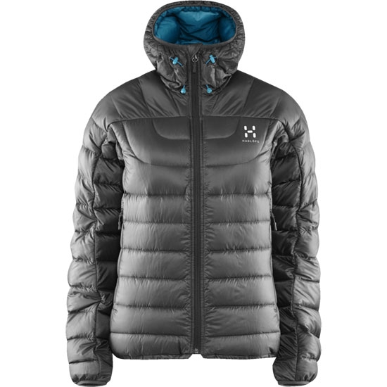 Haglöfs Chill Down Hood W - Magnetite/Peacock