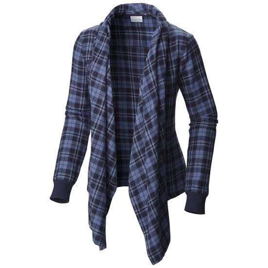 Columbia Simply Put Flannel Wrap W - Ebony Blue Plaid