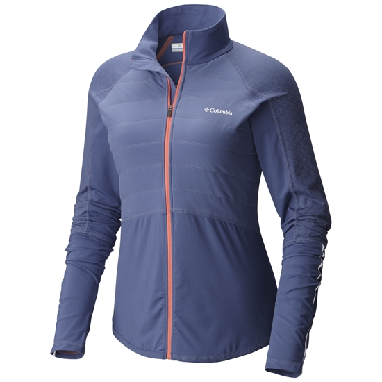 Columbia Trail Flash Hybrid Jacket W - Bluebell/Hot Coral