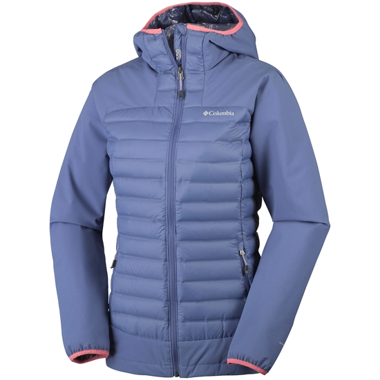 Columbia Dutch Hollow Hybrid Jacket W - Bluebell/ Hot Coral