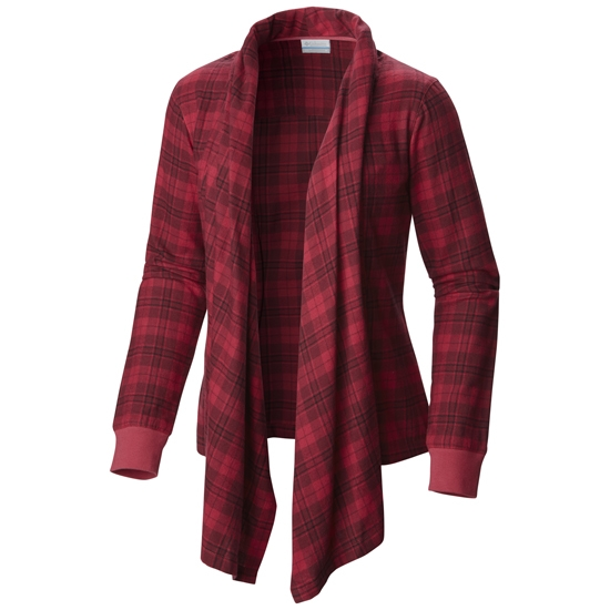 Columbia Simply Put Flannel Wrap W - Red Orchid Plaid