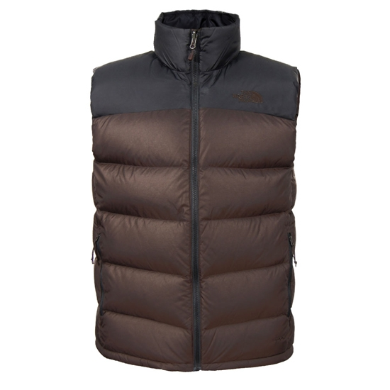 The North Face Nuptse 2 Vest - Coffee Bean Brown/TNF Black