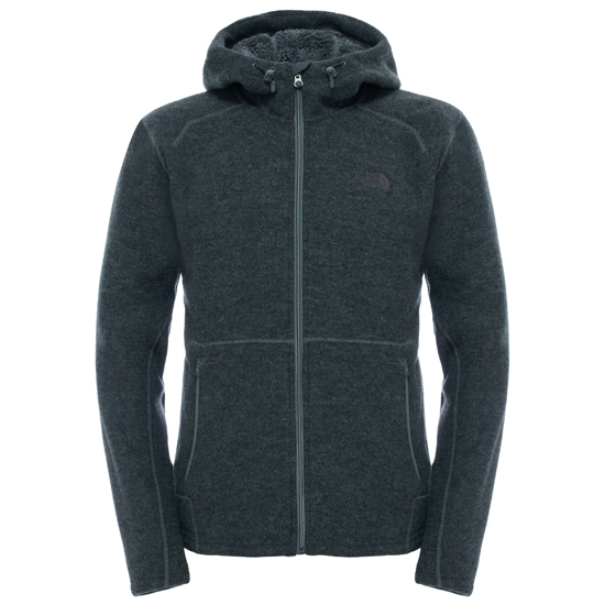 The North Face Zermatt Full Zip Hoodie - Fusebox Grey Dark Heather