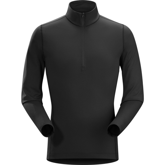 Arc'teryx Phase AR Zip Neck LS - Black