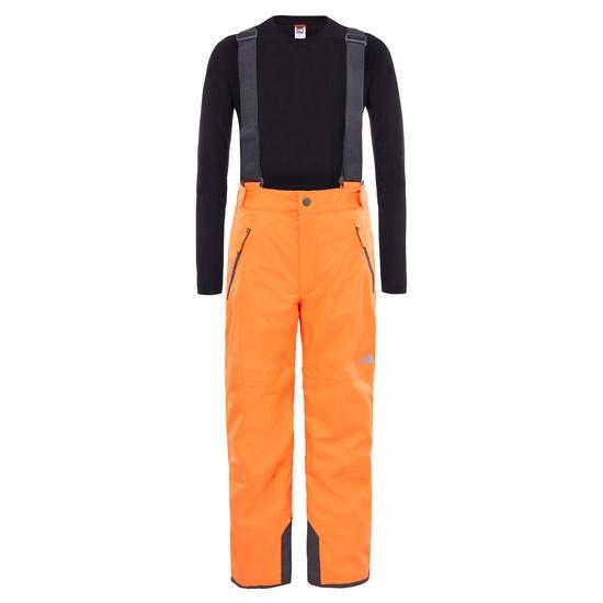 The North Face Snowquest Suspender Plus Pant Jr - Power Orange