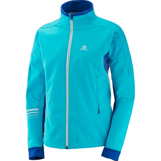 Salomon Lightning Warm Softshell Jacket W - Blue Bird/Nordic