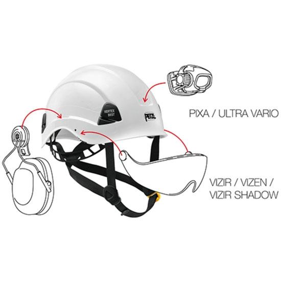 Petzl Vertex Best Blanco - Photo of detail
