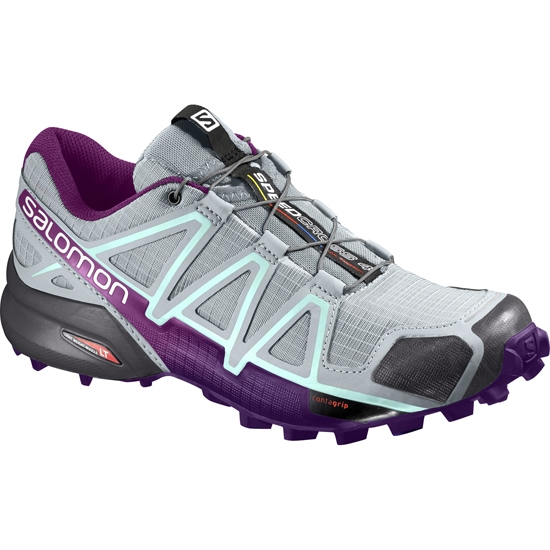 Salomon Speedcross 4 W - Quarry/Acai/Fair Aqua