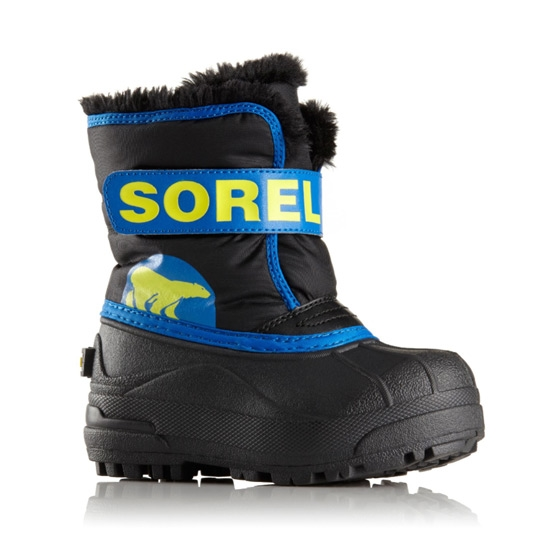 Sorel Snow Commander Childrens - Black/Super Blue