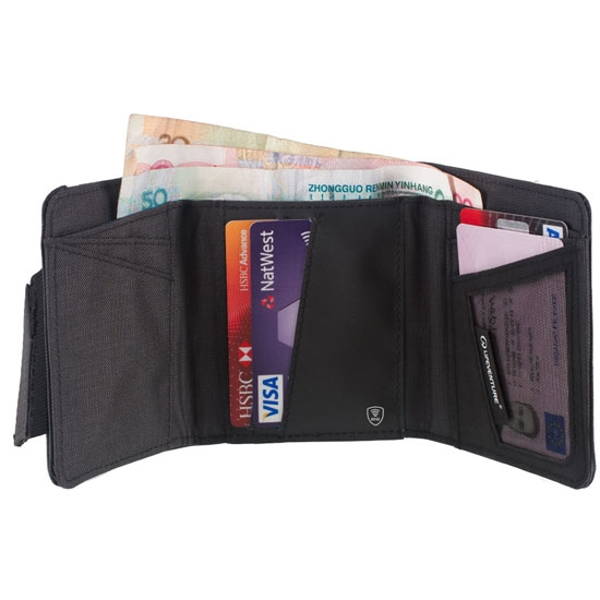 Lifeventure RFid Protected Tri-Fold Wallet - Photo of detail