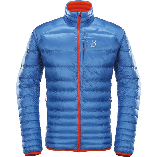 Haglöfs Essens III Down Jacket - Vibrant Blue/Habanero