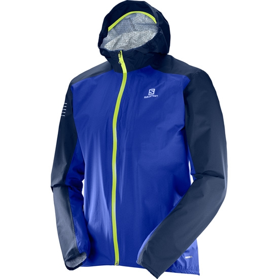 Salomon Bonatti WP Jacket - Surf The Web/Dress Blue