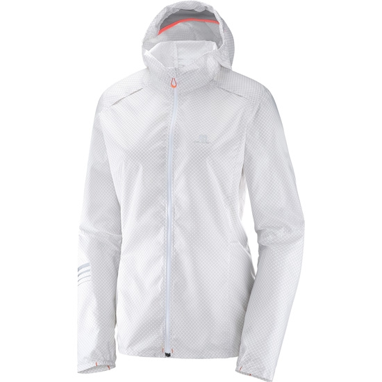 Salomon Lightning Wind Graph Hoodie W - White Vapor