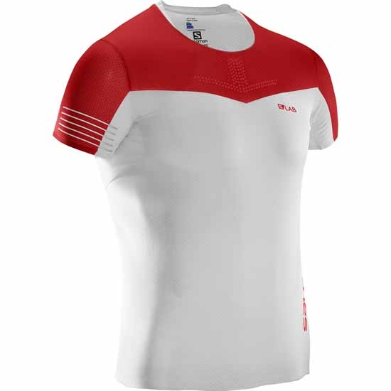 Salomon S-lab S-Lab Sense Tee - White/Racing Red