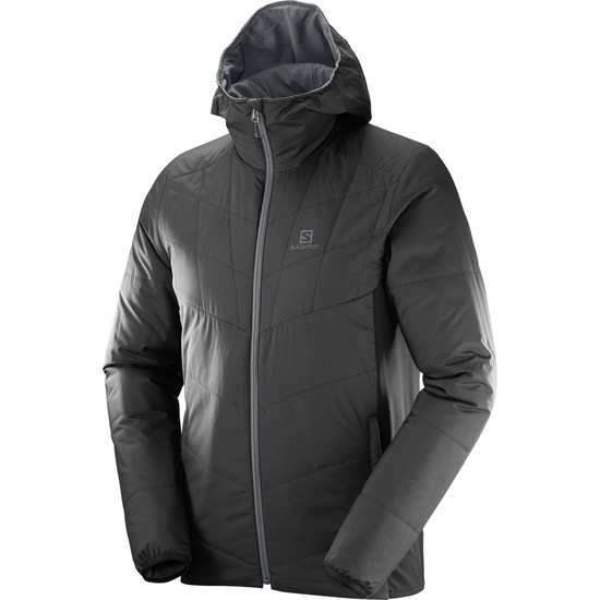 Salomon Drifter Mid Hoodie - Black/Forged Iron