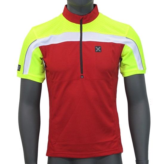Montura Workframe High Zip T-Shirt - Rojo/Amarillo