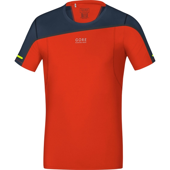 Gore Running Wear Fusion Shirt - Orange/Black Iris