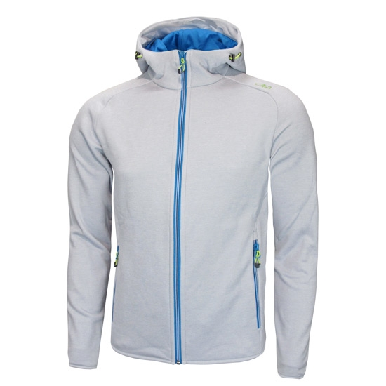 Campagnolo Stretch Fleece Hood Jacket - Ice Melange