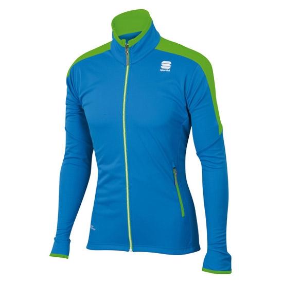 Sportful Squadra Jacket - Electric Blue/Green Fluo