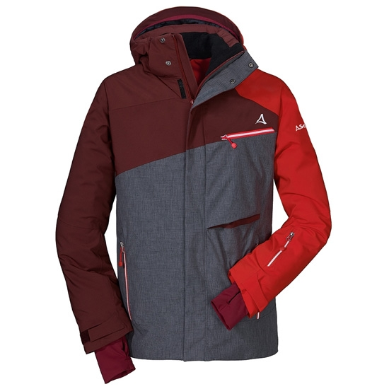 Schöffel Ski Jacket Helsinki1 - Grey/Red