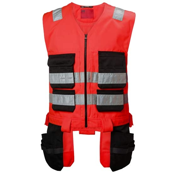 Helly Hansen Workwear Alna Cons Vest - Red/Charcoal