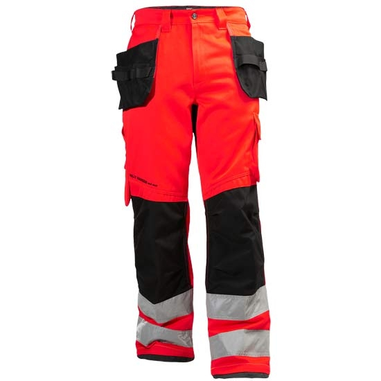 Helly Hansen Workwear Alna Cons Pant CL 2 - Hv Red/Charcoal