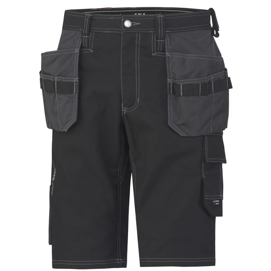 Helly Hansen Workwear Chelsea Construction Shorts - Black/Charcoal