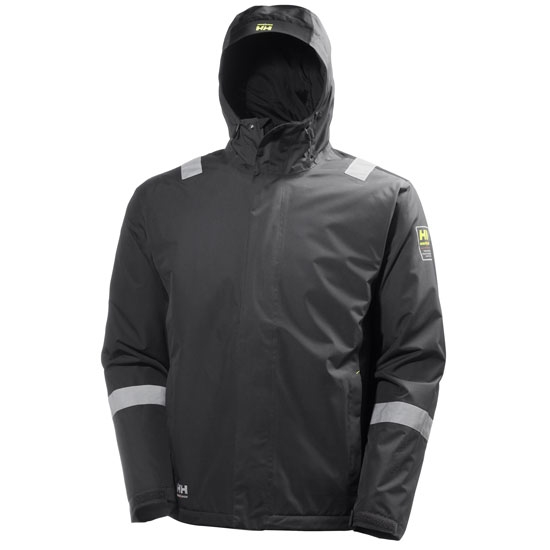 Helly Hansen Workwear Aker Winter Jacket - Dark Grey/Black
