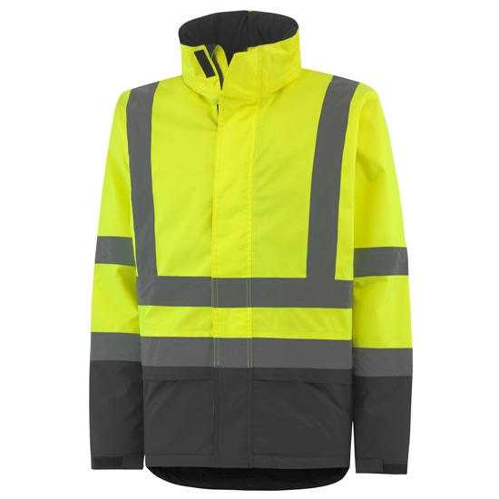Helly Hansen Workwear Alta Insulated Jacket - Yellow/Charcoal