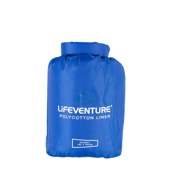 Lifeventure Poly Cotton Sleeping Bag Liner - Navy