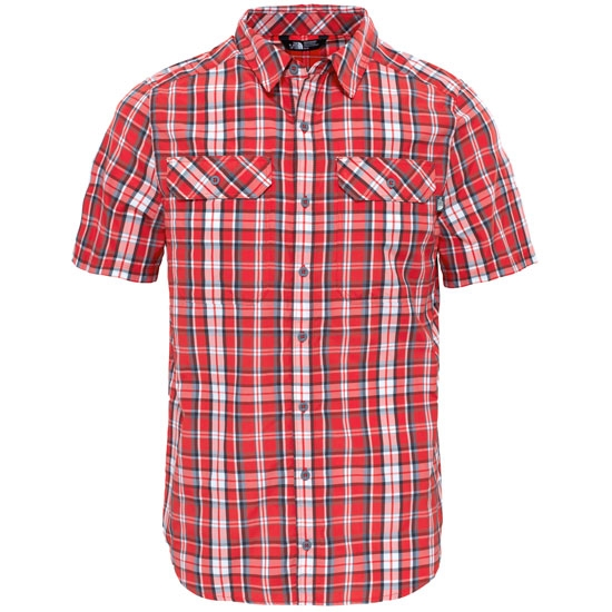 The North Face S/S Pine Knot Shirt - High Risk Red Plaid