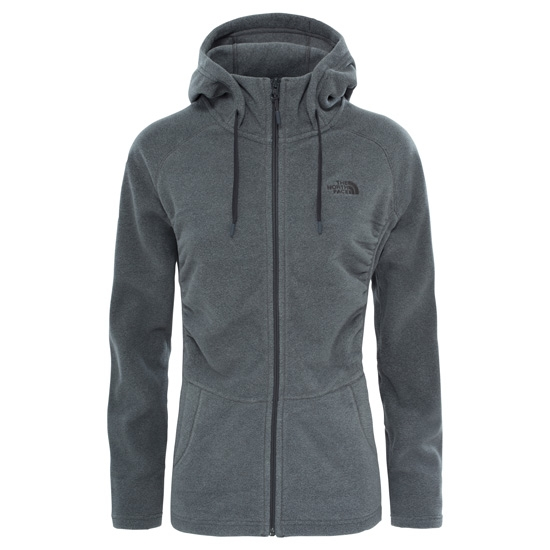 The North Face Mezzaluna Full Zip Hoodie W - Medium Grey Heather