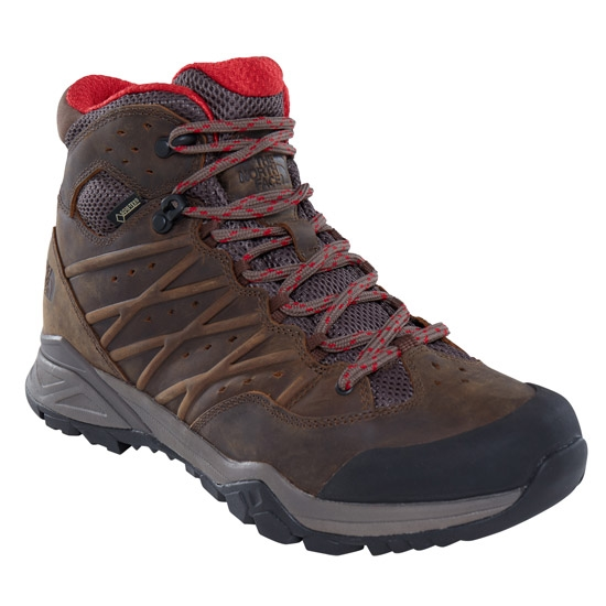 The North Face Hedgehog Hike II Mid GTX - Bone Brown/Rage Red