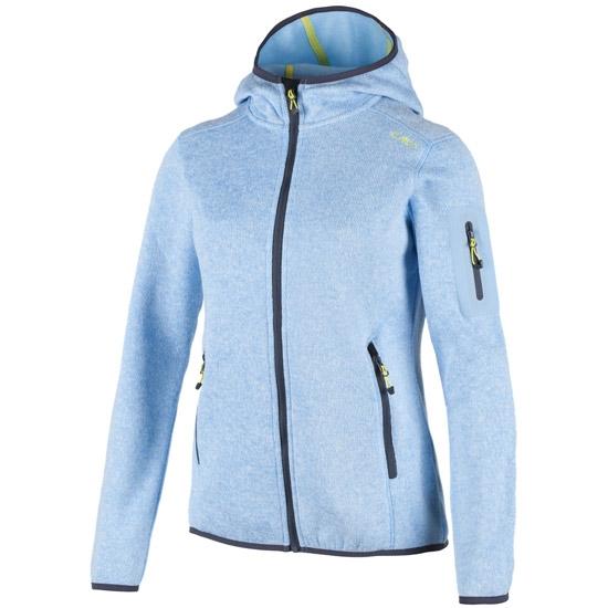 Campagnolo Fleece Fix Hood Jacket W - Light Blue