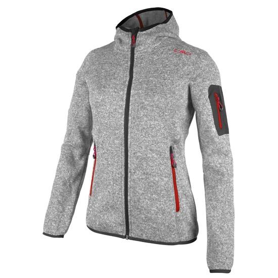 Campagnolo Fleece Fix Hood Jacket W - Grey Melange