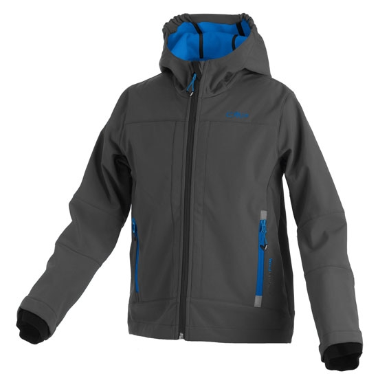 Campagnolo Softshell Fix Hood Jacket Boy - River/Nero