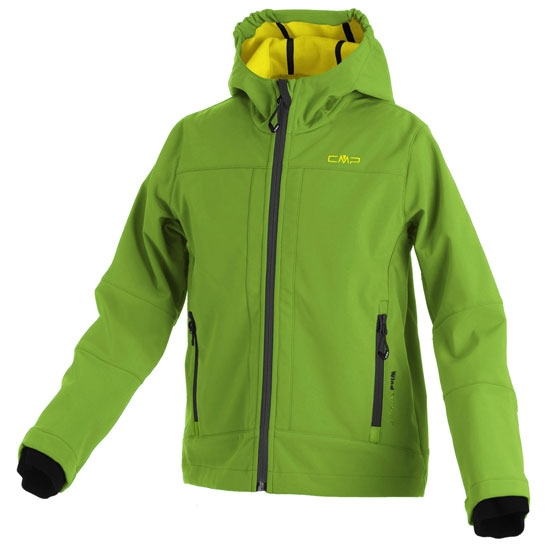 Campagnolo Softshell Fix Hood Jacket Boy - Acacia/Nero