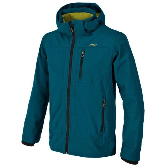Campagnolo Softshell Zip Hood Jacket - Blue Green